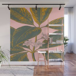 Modern Botanical Banana Leaf Wall Mural