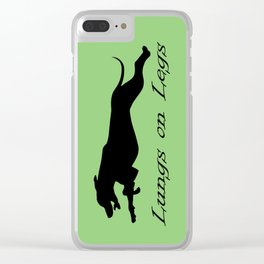 Lungs on Legs Clear iPhone Case
