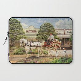 The Butchers Delivery Cart Laptop Sleeve