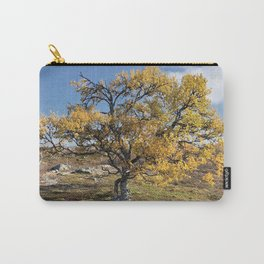 Yellow Tree in the mountains Carry-All Pouch