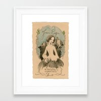 jane eyre Framed Art Prints featuring Jane Eyre by Charlotte Bronte by BA Jennings