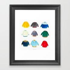 It's sweater season! Framed Art Print