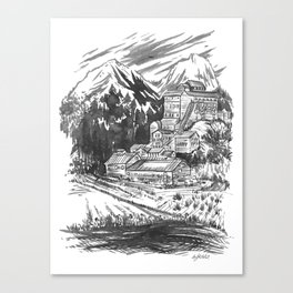 River Copper Mine Canvas Print