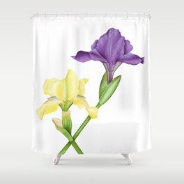 Watercolor irises Shower Curtain