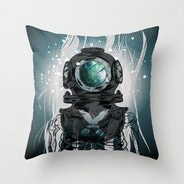 Deep Space Diver Throw Pillow