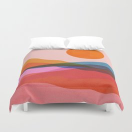 Abstraction_OCEAN_Beach_Minimalism_001 Duvet Cover