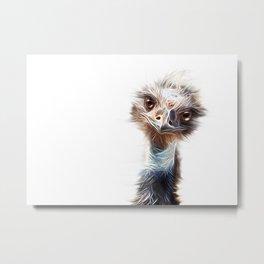 Luminous Emu Art Metal Print