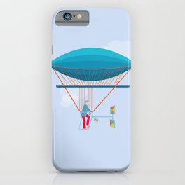 Skycycle Flying Machine Air Balloon Victorian Aircraft iPhone Case