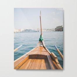 Boat from Valletta Metal Print