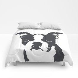 Boston Terrier Pop Art Comforters