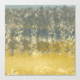 Blue and Gold Textures Abstract Canvas Print