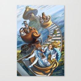 Steampunk Alice in Wonderland Teacups Canvas Print