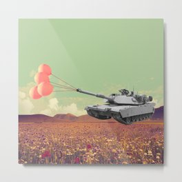 don't war, be happy Metal Print