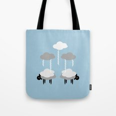 Wooly weather - Sheep Rain Clouds Tote Bag