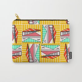 Bright geometric decor with stripes Carry-All Pouch