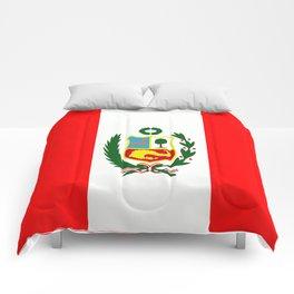 Flag of Peru Comforters