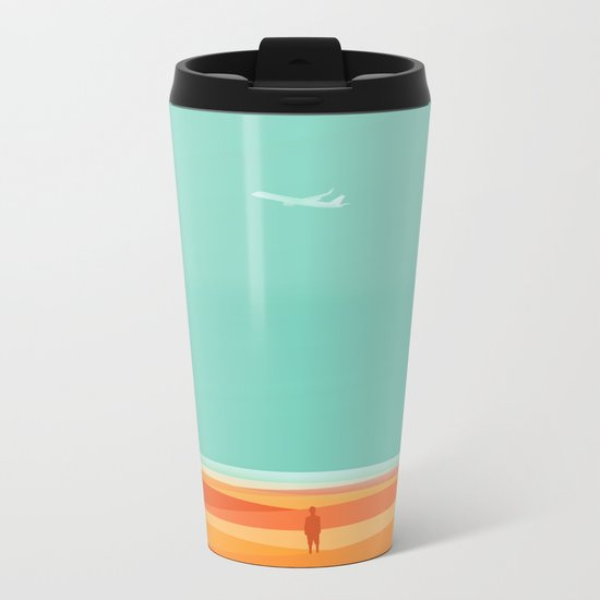 Where the sea meets the sky Metal Travel Mug