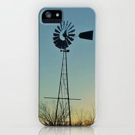 Sunset Glow On Windmill iPhone Case