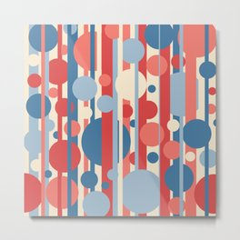 Stripes and circles color mode #3 Metal Print
