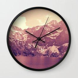 Vintage Landscape - Morskie Oko Wall Clock