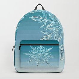 Blue Green Ice Crystal Backpack
