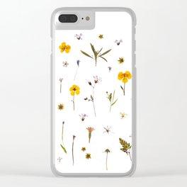 Wild flower meadow Clear iPhone Case