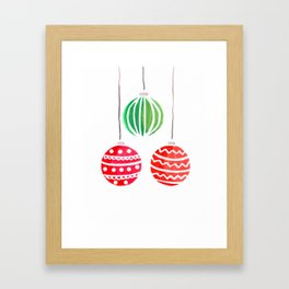 Christmat ornaments Framed Art Print