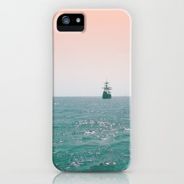 Pirate ship at sea iPhone Case