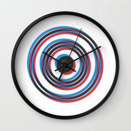 overlapping waves Wall Clock