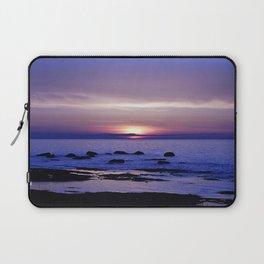 Purple Sunset on the Sea Laptop Sleeve