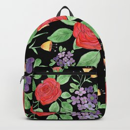 Watercolor floral pattern.7 Backpack
