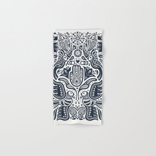Folklore Pattern Hand & Bath Towel