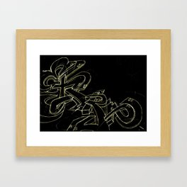 Extra black gold Framed Art Print