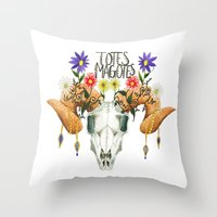 totes Throw Pillows featuring Totes Magotes by Ariana Victoria Rose