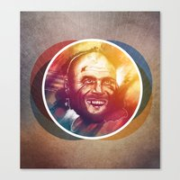 randy c Canvas Prints featuring Randy Couture by Domen Colja