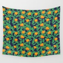 Orange garden Wall Tapestry