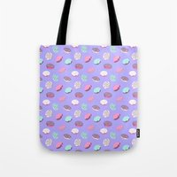 heymonster Tote Bags featuring Donuts by heymonster