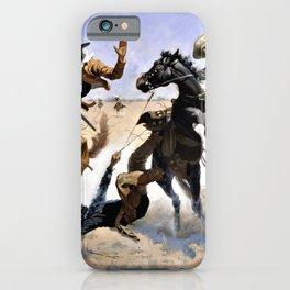 Frederic Remington - Aiding a Comrade - Digital Remastered Edition iPhone Case