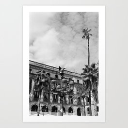 Plaça Reial - Barcelona Art Print