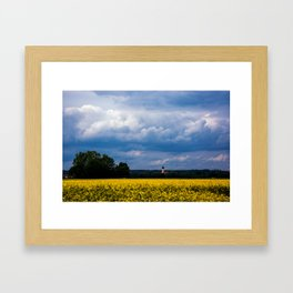 Concept nature : The yellow field Framed Art Print