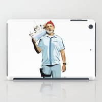 zissou iPad Cases featuring Steve Zissou by Natasha Martono