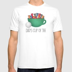 Dad's Cup Of Tee Mens Fitted Tee LARGE White