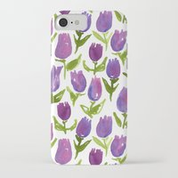 tulips iPhone & iPod Cases featuring Tulips by leah reena goren