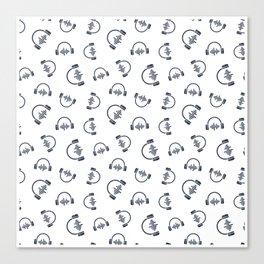 Discjockey Pattern | DJ Music Vinyl Turntables Canvas Print
