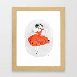 Nine ladies dancing Framed Art Print