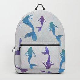 blue & purple mermaid Backpack
