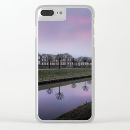 Pink Sky At Schloss Nordkirchen Clear iPhone Case