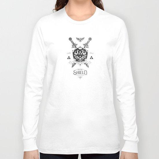 Legend of Zelda Hylian Shield Foundry logo Iconic Geek Line Artly Long Sleeve T-shirt