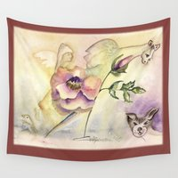 fairy Wall Tapestries featuring Fairy by CrismanArt