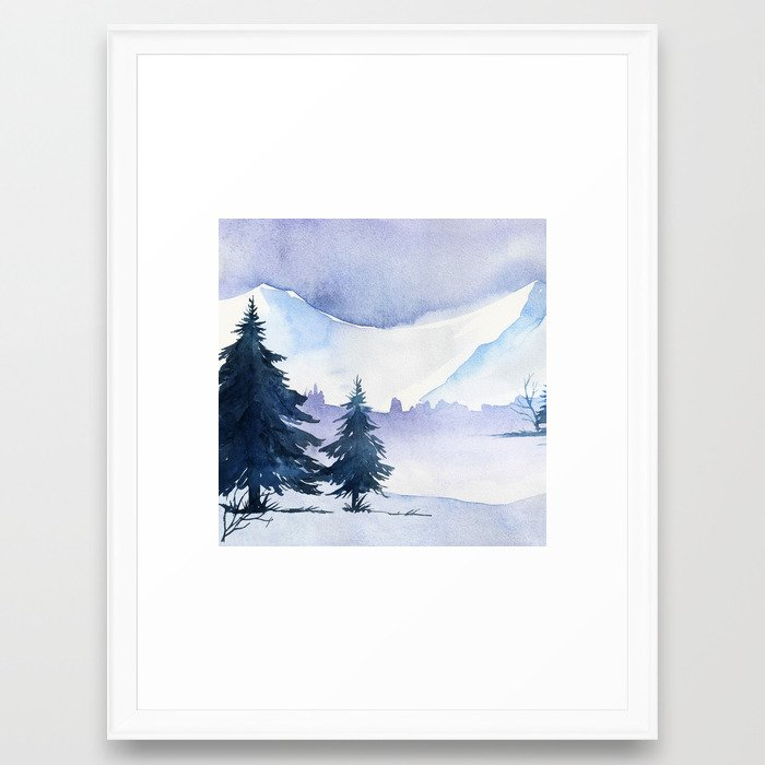 Winter scenery #1 Framed Art Print by julianarw | Society6
